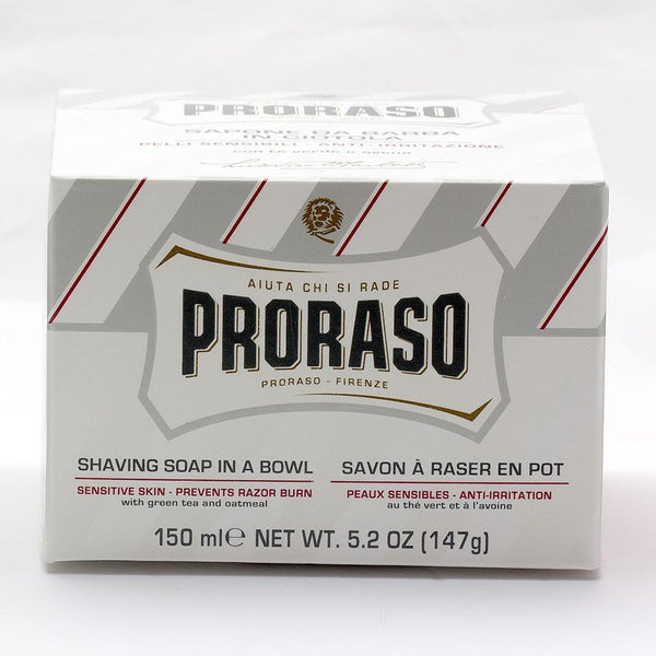 Proraso White Shaving Soap for Sensitive Skin with Green Tea and Oatmeal - Fendrihan - 3