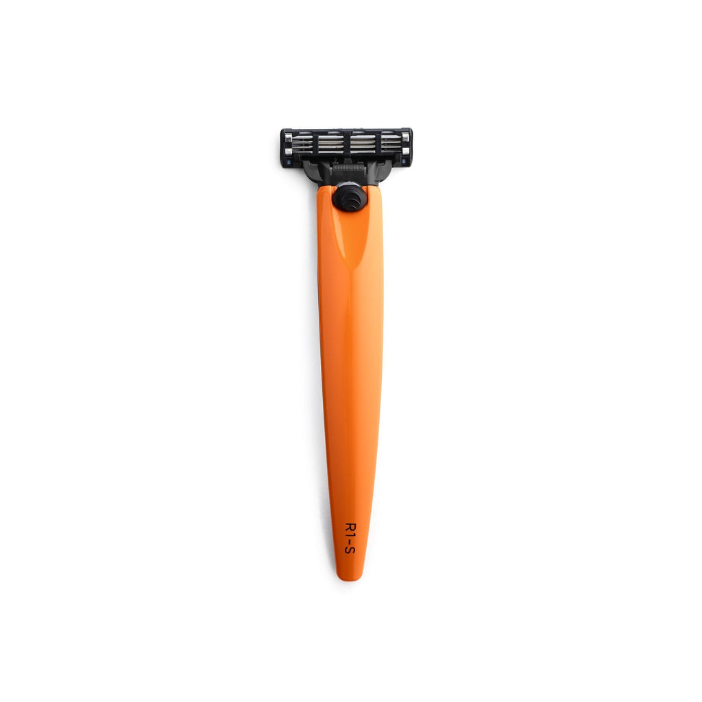 Bolin Webb R1-S Razor Handle for Mach3, Signal Orange Cartridge Type Safety Razor Bolin Webb