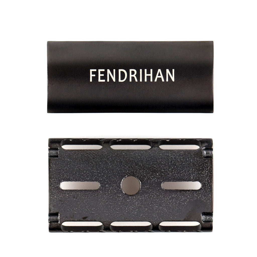 Fendrihan Stainless Steel Safety Razor with Black PVD Coated Head, Matte Fendrihan