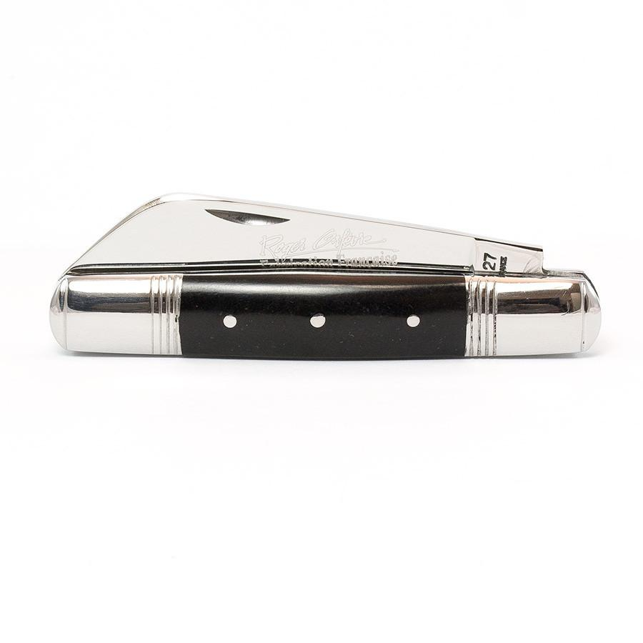 Roger Orfevre Le Tonneau 393 Folding Pocket Knife, Black PaperStone Handle Pocket Knife Roger Orfevre