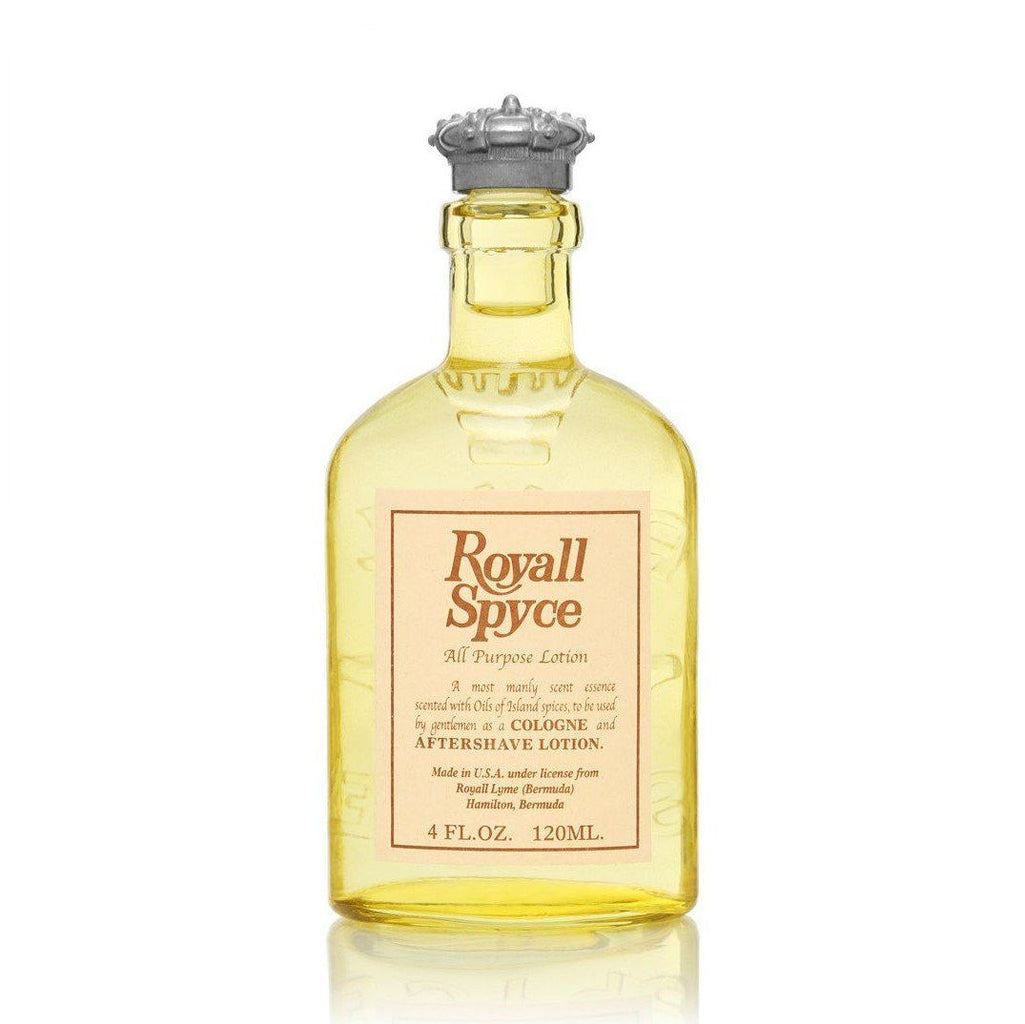 Royall Spyce All Purpose Lotion, 4 oz Natural Spray Aftershave Splash Royall Lyme Bermuda