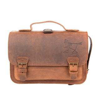 Ruitertassen Classic Kids' School Bag, Brown Leather Bag Ruitertassen