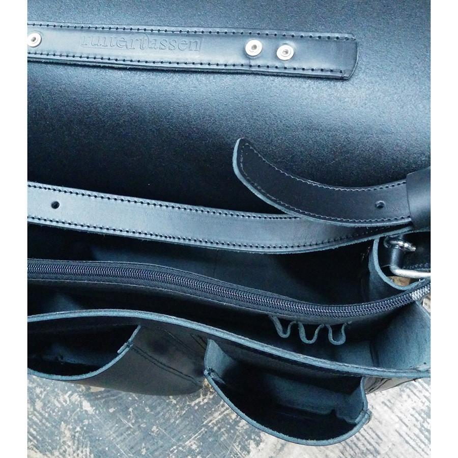 Ruitertassen Classic 2137 Leather Messenger Bag, Black Leather Bag Ruitertassen