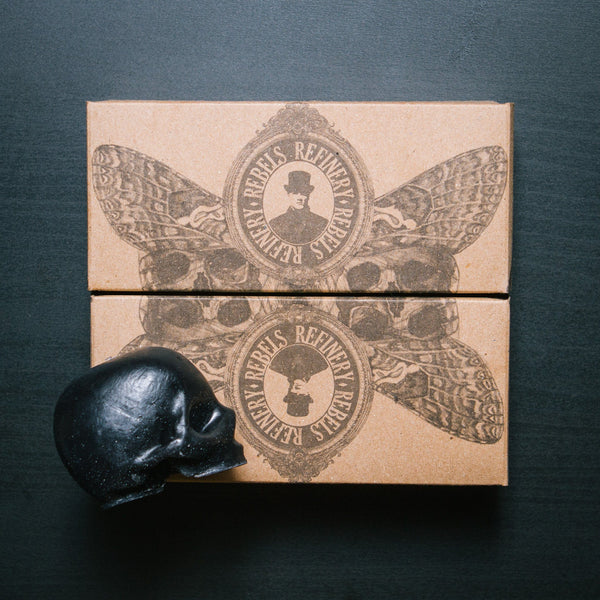 Rebels Refinery Black Activated Charcoal Skull Soap 3-Pack - Fendrihan - 3
