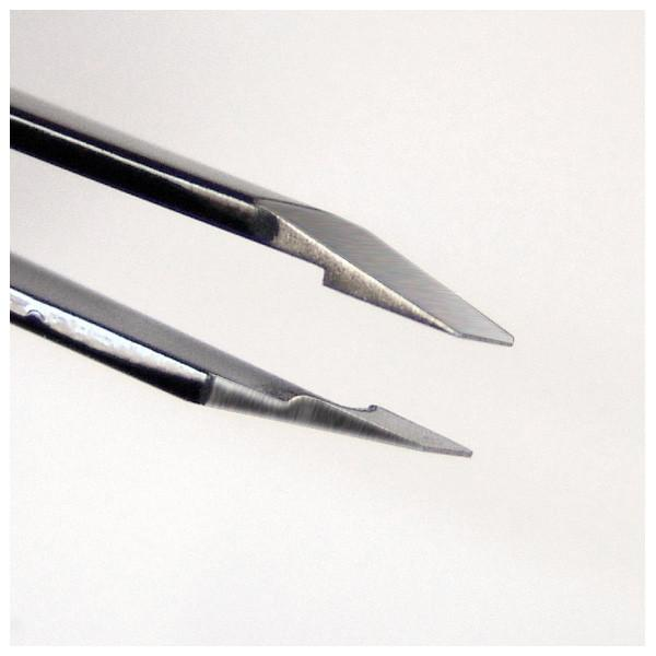 Seki Edge Black Stainless Steel Slanted Tip Tweezer, Made in Japan - Fendrihan - 2