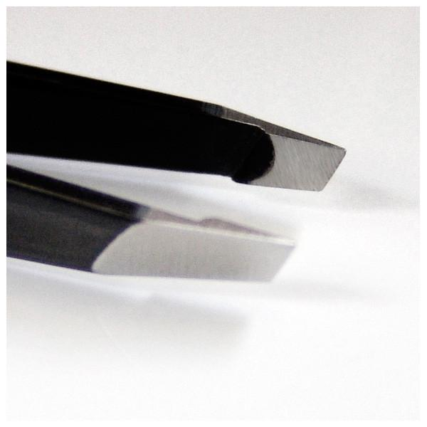 Seki Edge Black Stainless Steel Slanted Tip Tweezer, Made in Japan - Fendrihan - 3