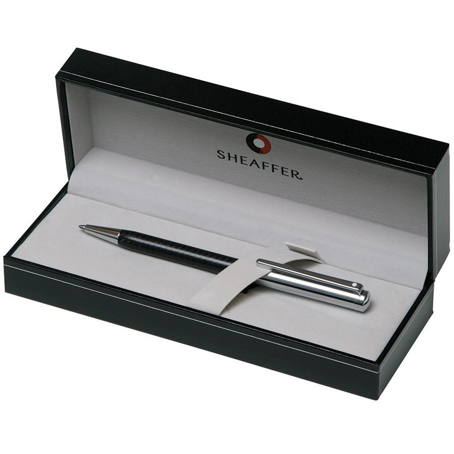 Sheaffer Intensity Ballpoint Pen, Carbon Fiber Barrel with Bright Chrome Cap and Chrome Plate Trim Ball Point Pen Sheaffer