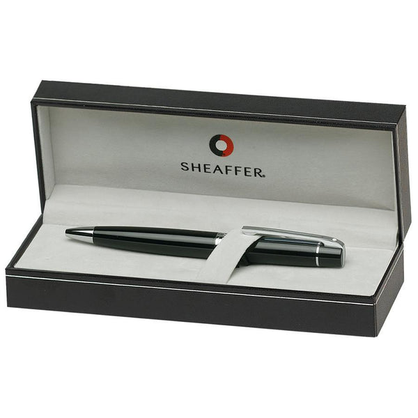 Sheaffer 300 Ballpoint Pen, Glossy Black with Chrome Plate Trim - Fendrihan - 3