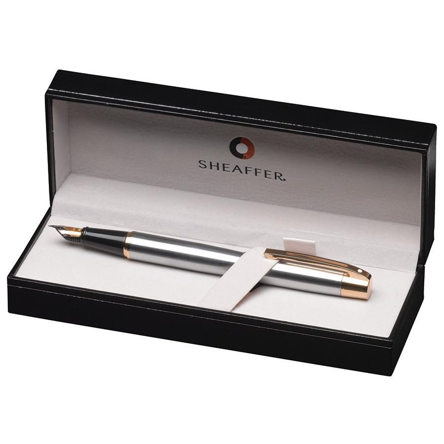 Sheaffer 300 Fountain Pen, Chrome with Gold Plate Trim Fountain Pen Sheaffer