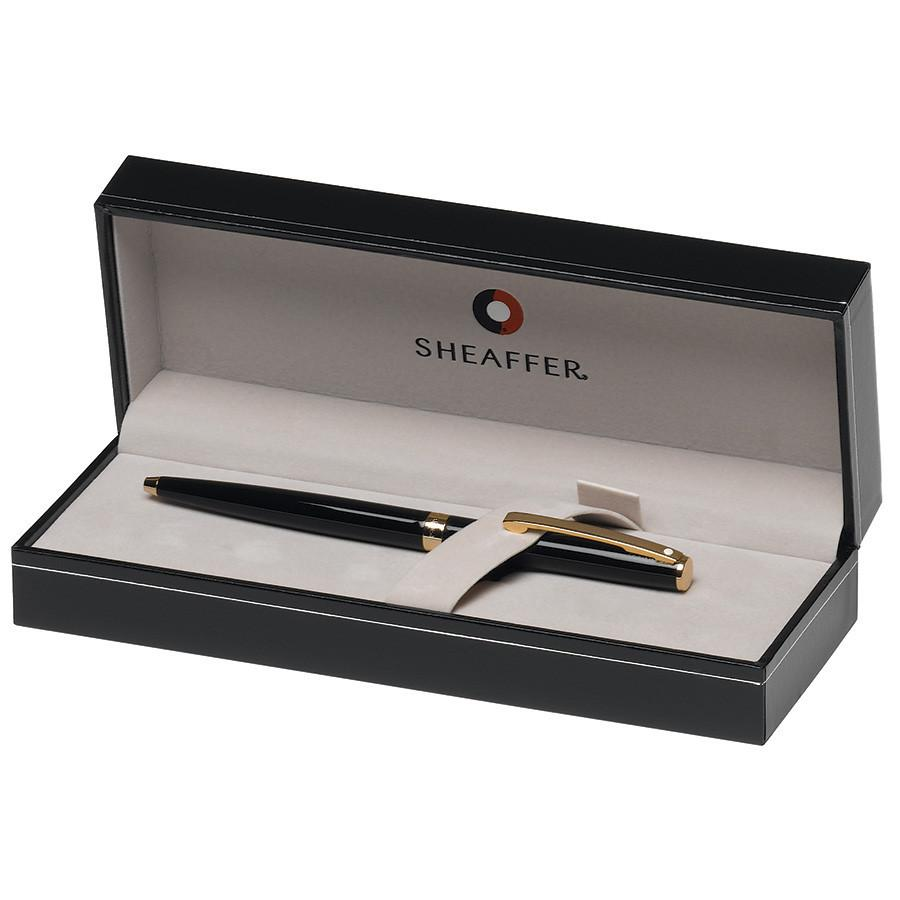 Sheaffer Sagaris Ballpoint Pen, Gloss Black Featuring Gold Tone Trim Ball Point Pen Sheaffer