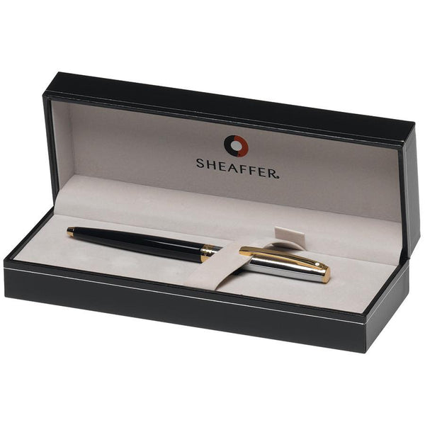 Sheaffer Sagaris Ballpoint Pen, Black Barrel and Chrome Cap Featuring Gold Tone Trim - Fendrihan - 3