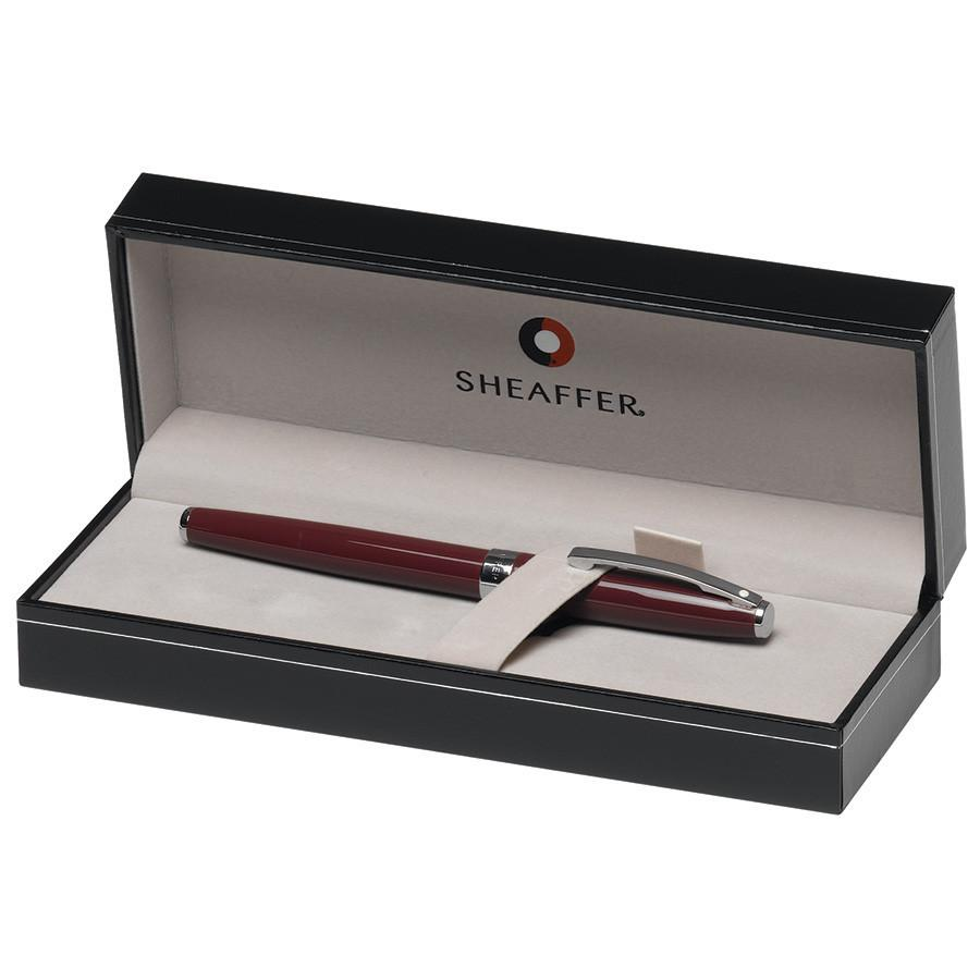 Sheaffer Sagaris Fountain Pen, Gloss Wine Featuring Chrome Plate Trim, Medium Nib Fountain Pen Sheaffer