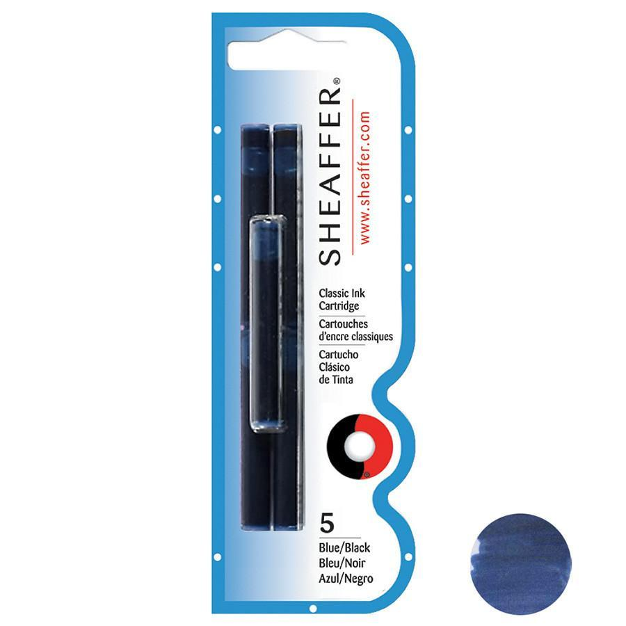 Sheaffer Skrip Fountain Pen Ink Cartridges, 5-pack Ink & Refill Sheaffer Dark Blue