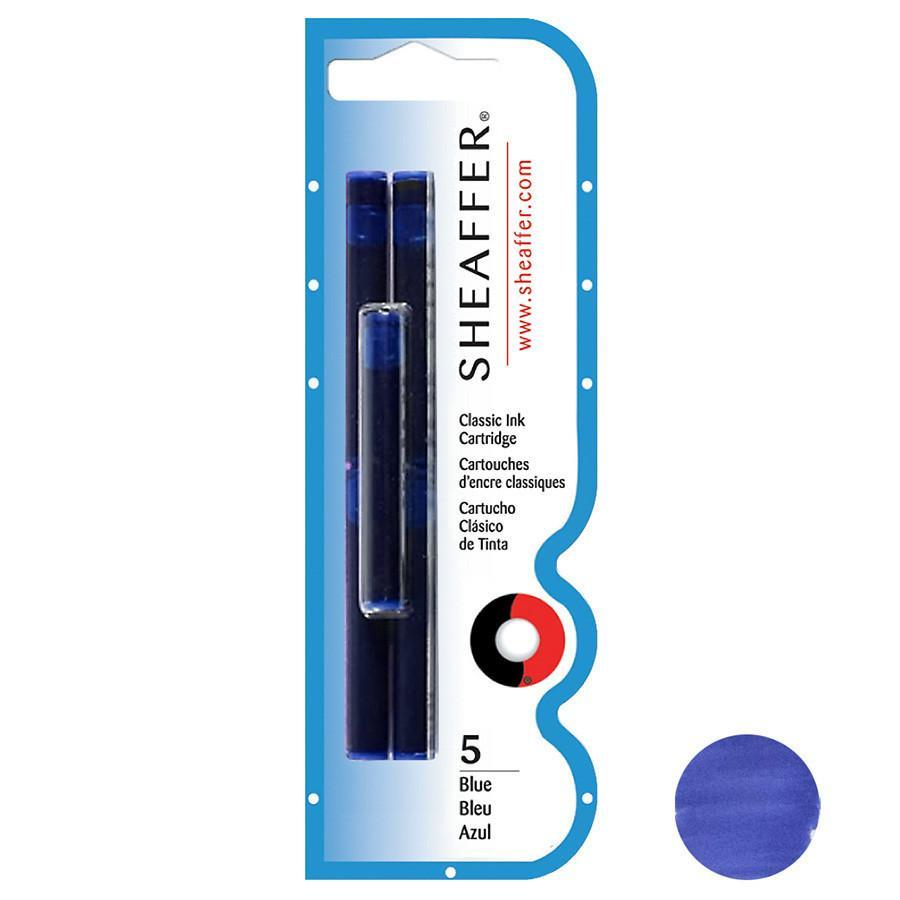 Sheaffer Skrip Fountain Pen Ink Cartridges, 5-pack Ink & Refill Sheaffer Blue