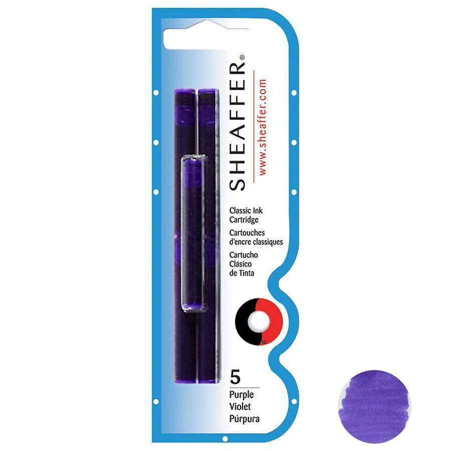 Sheaffer Skrip Fountain Pen Ink Cartridges, 5-pack Ink & Refill Sheaffer Purple