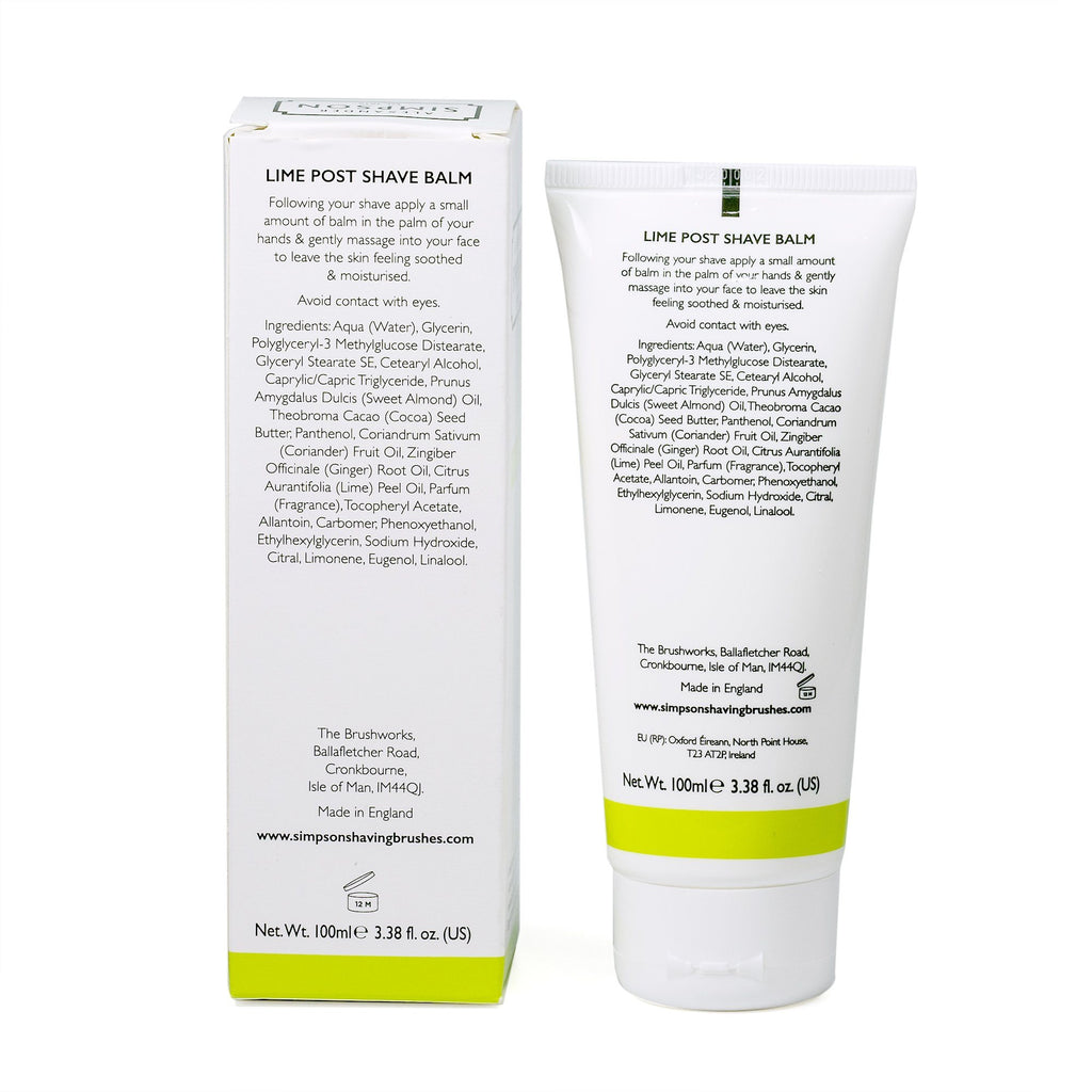 Alexander Simpson Post Shave Balm, Lime Aftershave Balm Simpsons