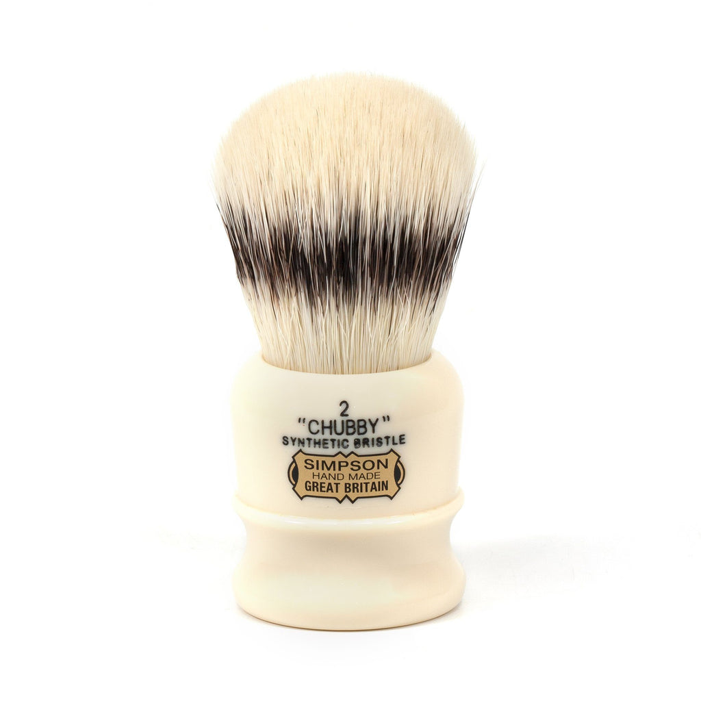 Simpsons Chubby 2 Synthetic Shaving Brush, Faux Ivory Handle Synthetic Bristles Shaving Brush Simpsons