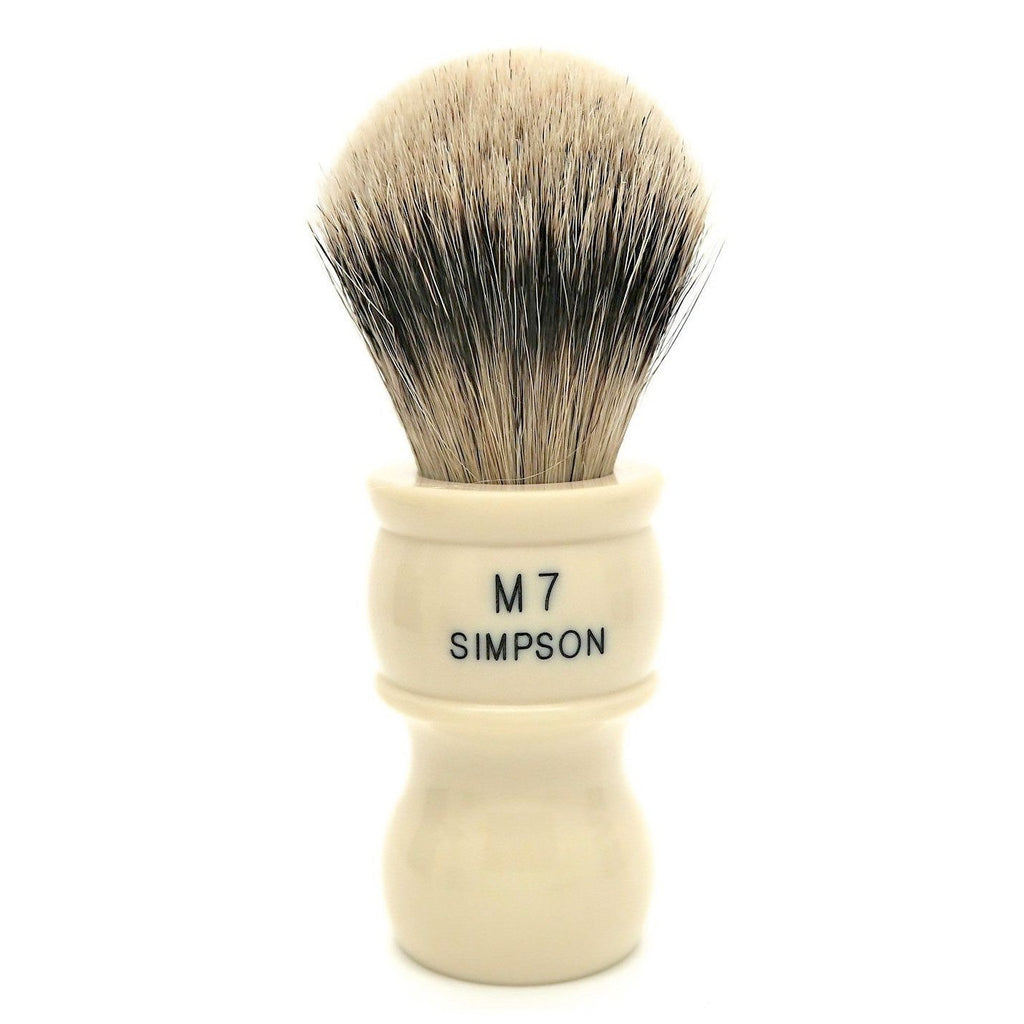 Simpsons M7 Super Badger Shaving Brush Badger Bristles Shaving Brush Simpsons