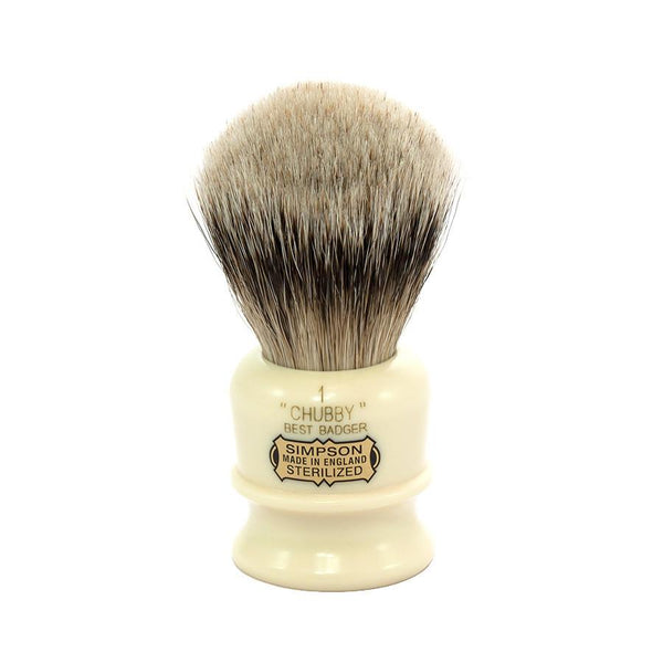 Simpsons Chubby 1 Best Badger Shaving Brush - Fendrihan - 1