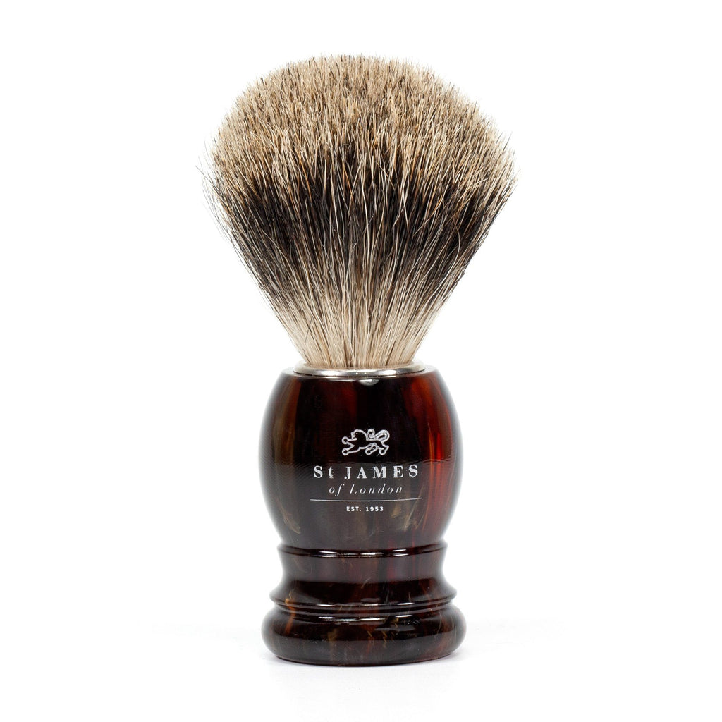 St. James of London Super Badger Shaving Brush Badger Bristles Shaving Brush St. James of London Tortoise
