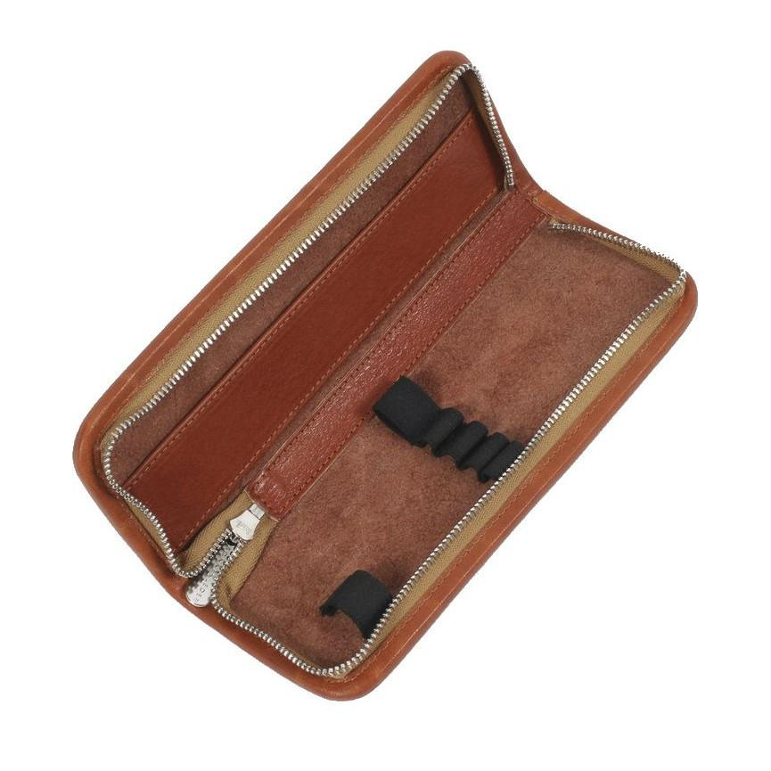 "Sonnenleder ""Kluge"" Pen and Pencil Leather Case, Natural Pen Case Sonnenleder"