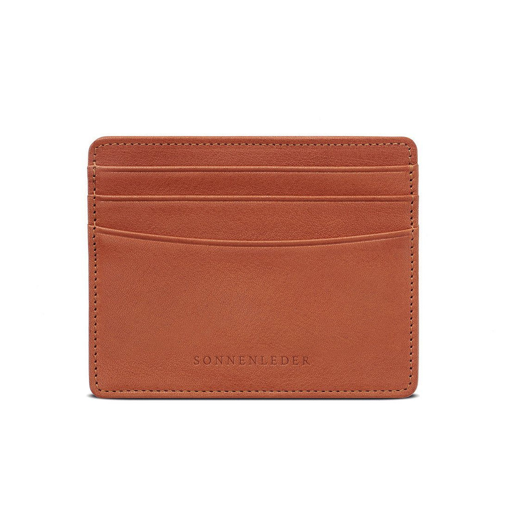 "Sonnenleder ""Elz"" Vegetable Tanned Leather Credit Card Case Leather Wallet Sonnenleder Natural"