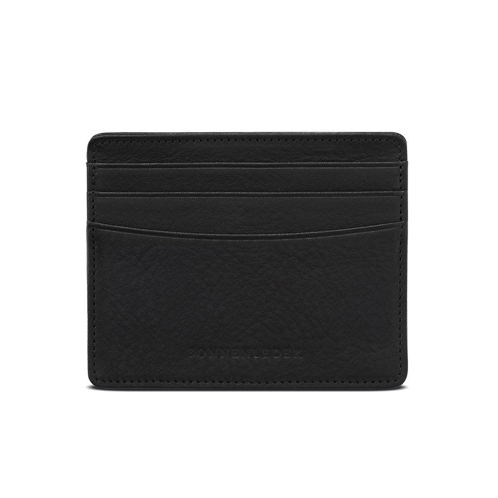 "Sonnenleder ""Elz"" Vegetable Tanned Leather Credit Card Case Leather Wallet Sonnenleder Black"