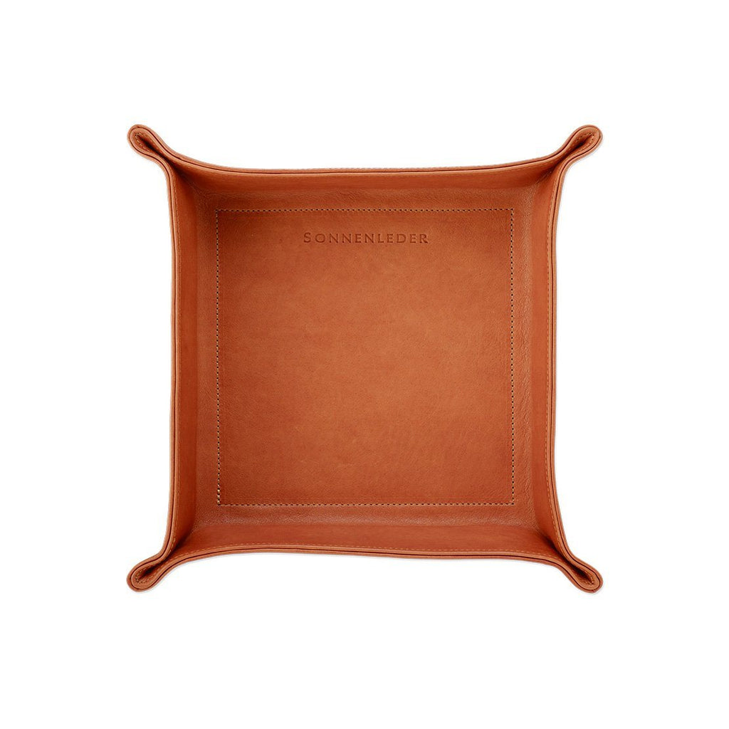 Sonnenleder Vegetable Tanned Leather Tray, Natural Leather Travel Tray Sonnenleder