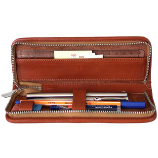 "Sonnenleder ""Boll"" Pen and Pencil Leather Case, Natural Pen Case Sonnenleder"