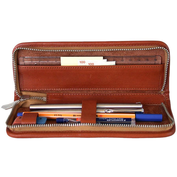"Sonnenleder ""Boll"" Pen and Pencil Leather Case, Natural - Fendrihan - 1"