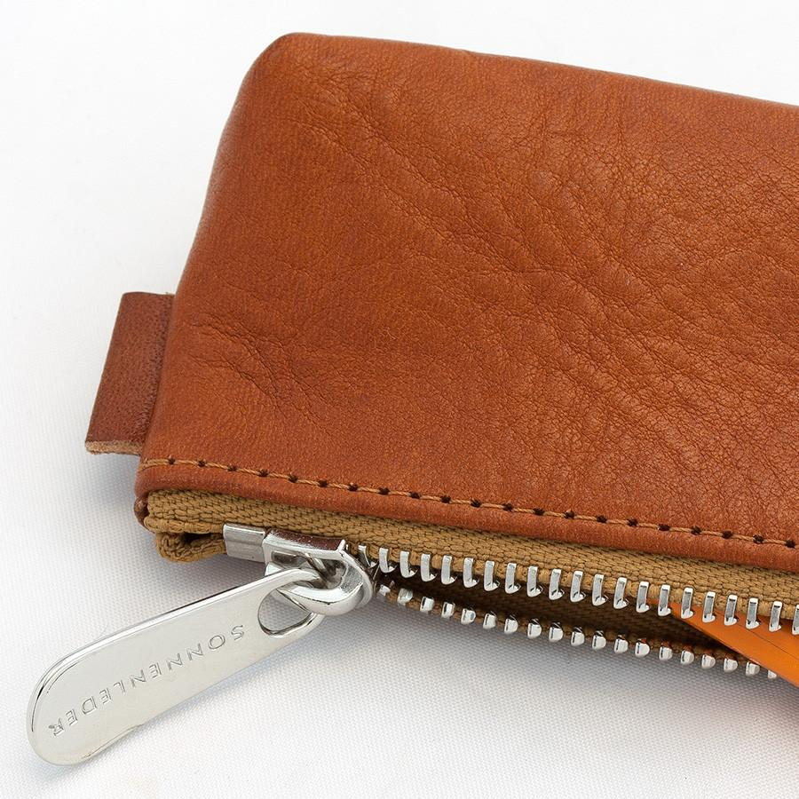 "Sonnenleder ""Simmel"" Pencil Leather Pouch, Natural Pen Case Sonnenleder"