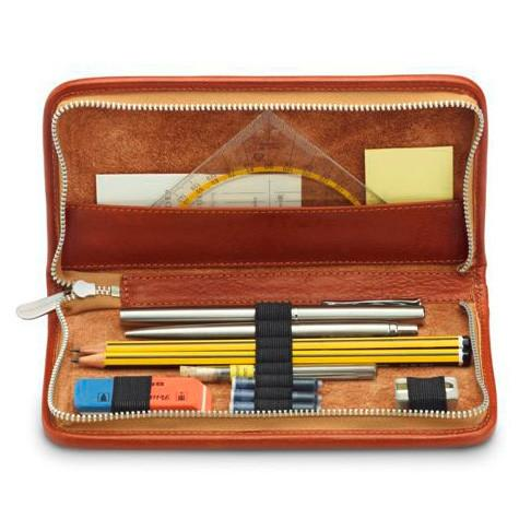 "Sonnenleder ""Nietzsche"" Pen and Pencil Leather Case, Natural - Fendrihan - 1"
