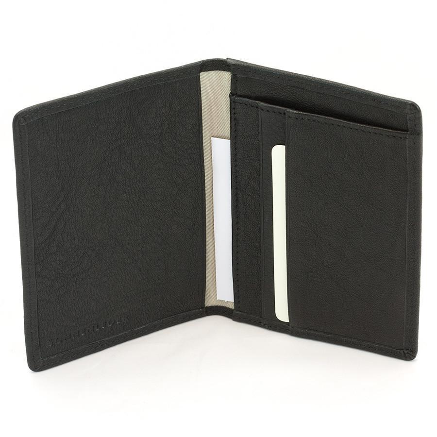 "Sonnenleder ""Inn"" Vegetable Tanned Leather Card Case Leather Wallet Sonnenleder Black"