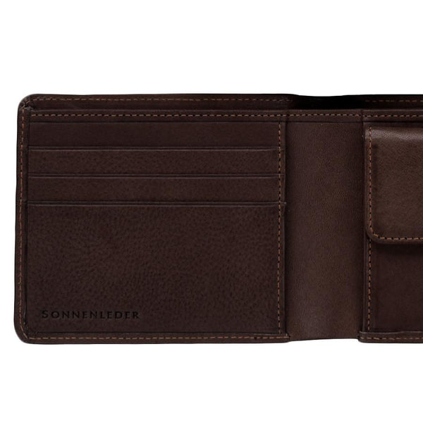 "Sonnenleder ""Spree"" Vegetable Tanned Leather Wallet with 3 CC Slots and Coin Pocket, Mocha Brown - Fendrihan - 2"