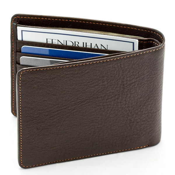 "Sonnenleder ""Spree"" Vegetable Tanned Leather Wallet with 3 CC Slots and Coin Pocket, Mocha Brown - Fendrihan - 5"