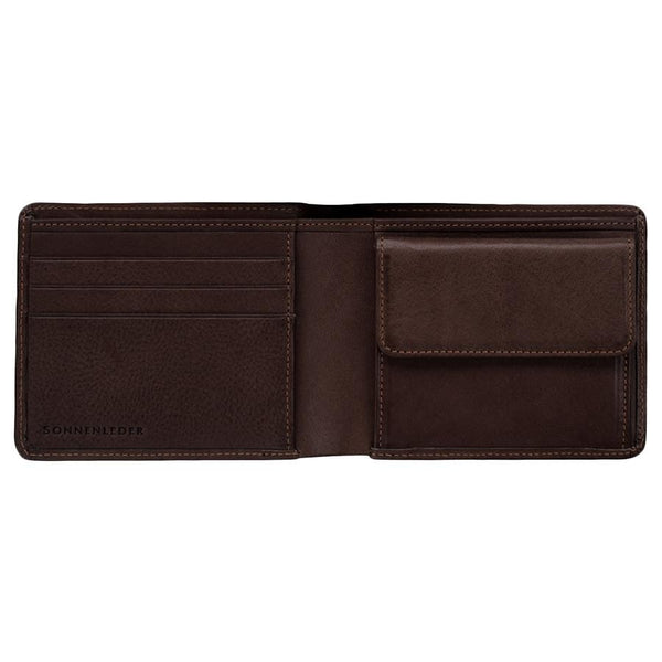 "Sonnenleder ""Spree"" Vegetable Tanned Leather Wallet with 3 CC Slots and Coin Pocket, Mocha Brown - Fendrihan - 1"