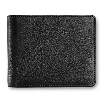 "Sonnenleder ""Ems"" Vegetable Tanned Leather Wallet with 6 CC Slots, Black - Fendrihan - 2"