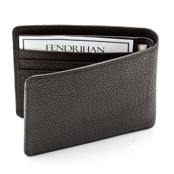"Sonnenleder ""Ems"" Vegetable Tanned Leather Wallet with 6 CC Slots, Black - Fendrihan - 5"