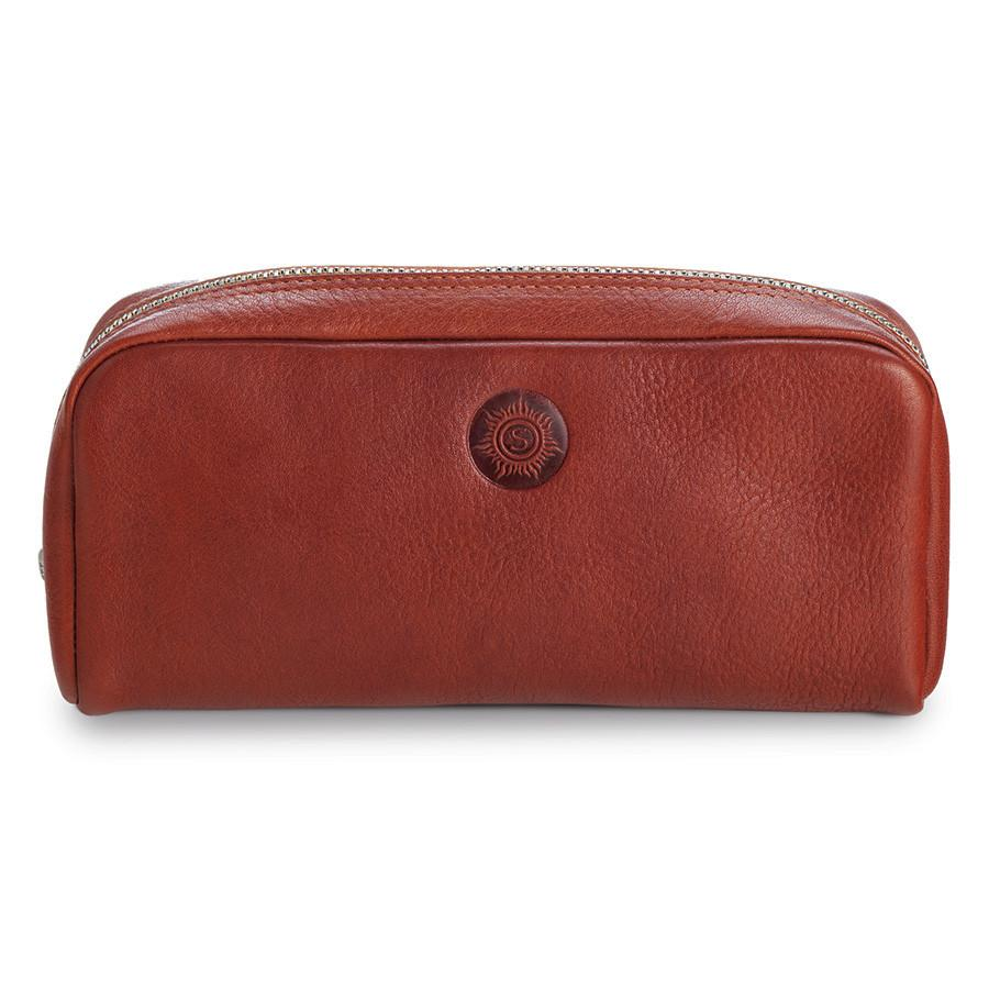 "Sonnenleder ""Faschina"" Vegetable Tanned Leather Toiletry Bag Grooming Travel Case Sonnenleder Natural"