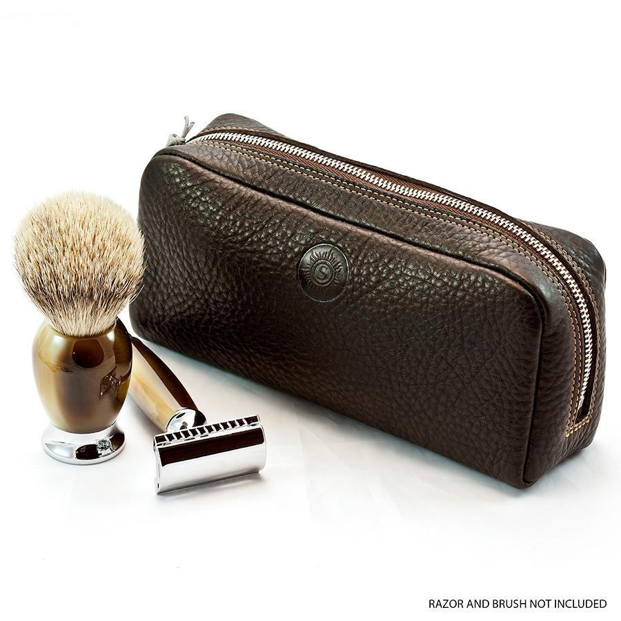 "Sonnenleder ""Faschina"" Vegetable Tanned Leather Toiletry Bag Grooming Travel Case Sonnenleder"