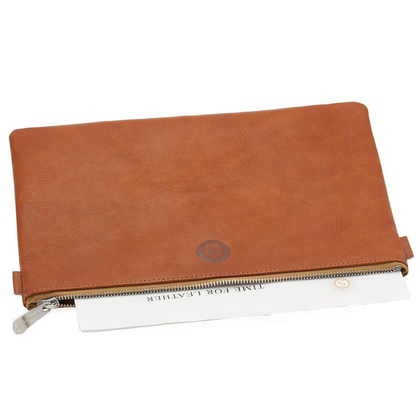 "Sonnenleder ""Weill"" Vegetable Tanned Leather Bank Pouch, Natural - Fendrihan - 2"