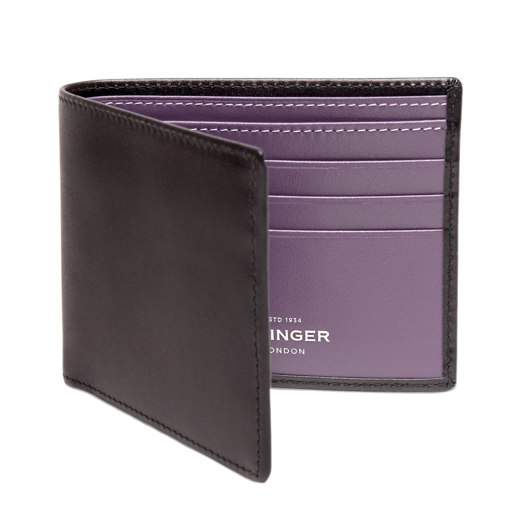 Ettinger Sterling Billfold Leather Wallet with 6 CC Slots Leather Wallet Ettinger Purple