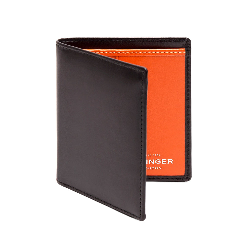 Ettinger Sterling Mini Leather Wallet with 6 Credit Card Slots Leather Wallet Ettinger Orange