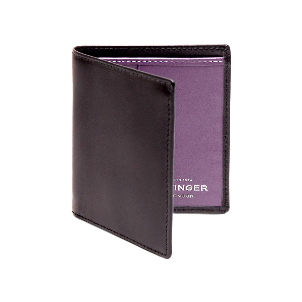 Ettinger Sterling Mini Leather Wallet with 6 Credit Card Slots Leather Wallet Ettinger Purple