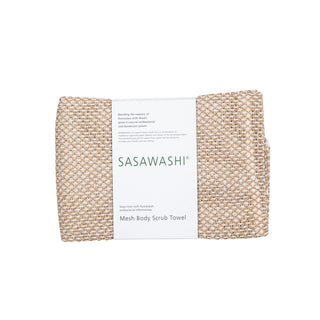 Sasawashi Organic Mesh Body Scrub Towel Towel Japanese Exclusives