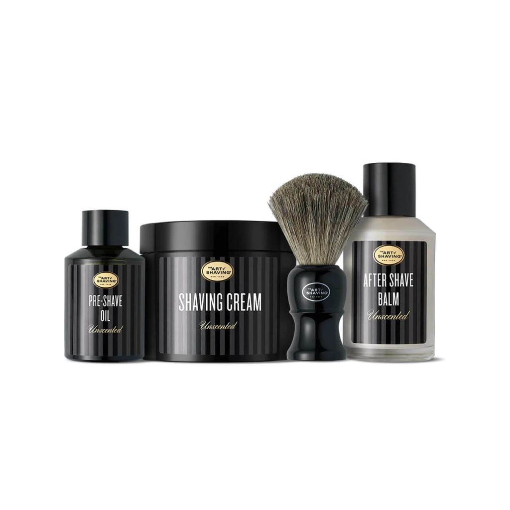 The Art of Shaving 4 Elements Bundle with Pure Shaving Brush Shaving Kit The Art of Shaving Unscented