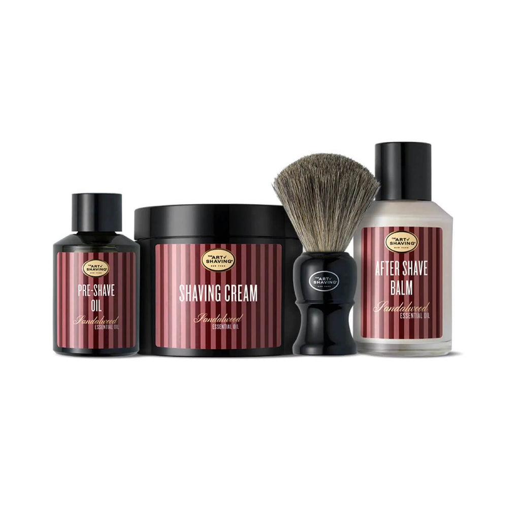 The Art of Shaving 4 Elements Bundle with Pure Shaving Brush Shaving Kit The Art of Shaving Sandalwood