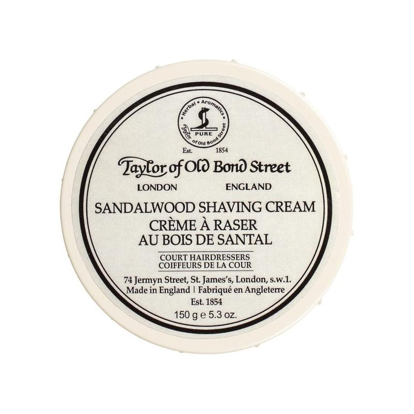 Taylor of Old Bond Street Shaving Cream Bowl, Sandalwood Shaving Cream Taylor of Old Bond Street 5.3 oz (150 g)
