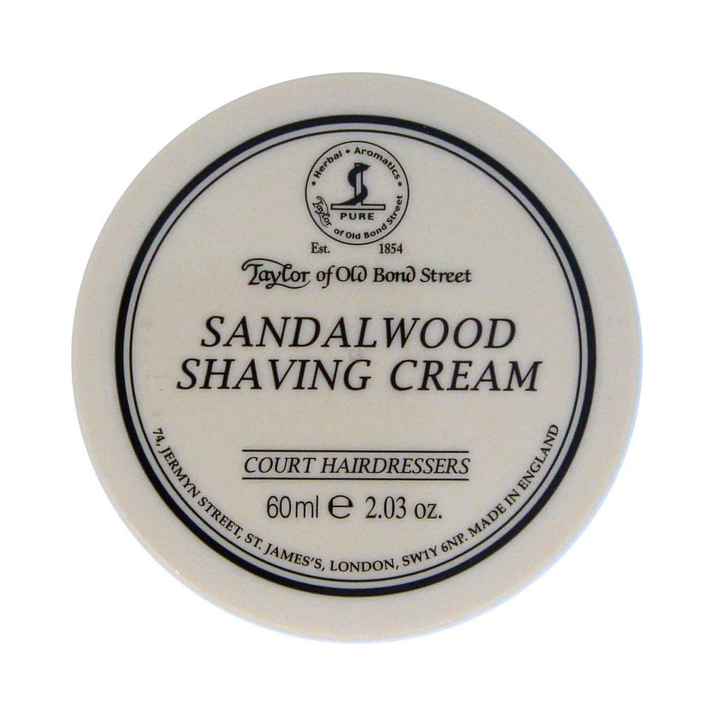 Taylor of Old Bond Street Shaving Cream Bowl, Sandalwood Shaving Cream Taylor of Old Bond Street 2 oz (60 g)