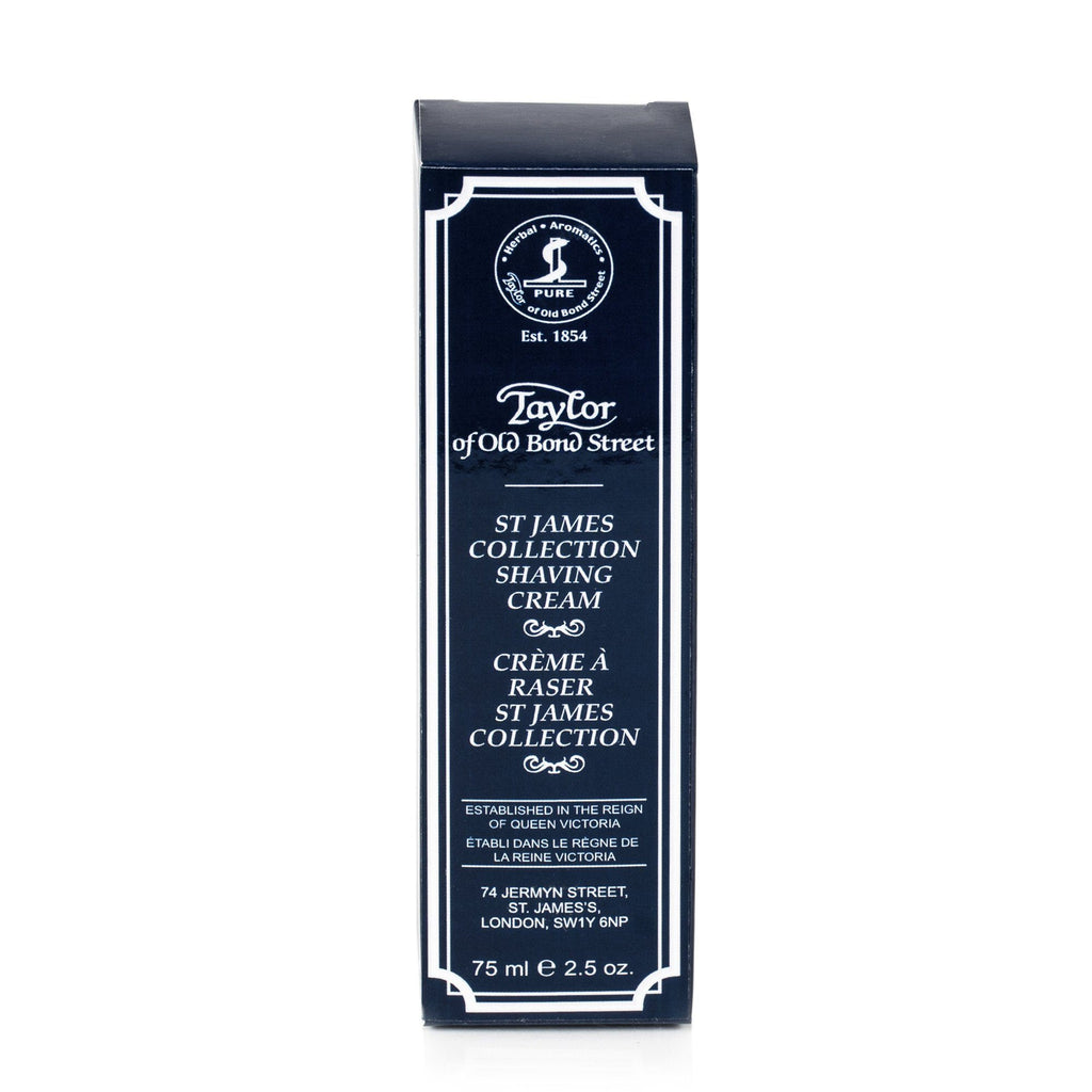 Taylor of Old Bond Street Classic Shaving Cream Travel Tube, St. James Shaving Cream Taylor of Old Bond Street